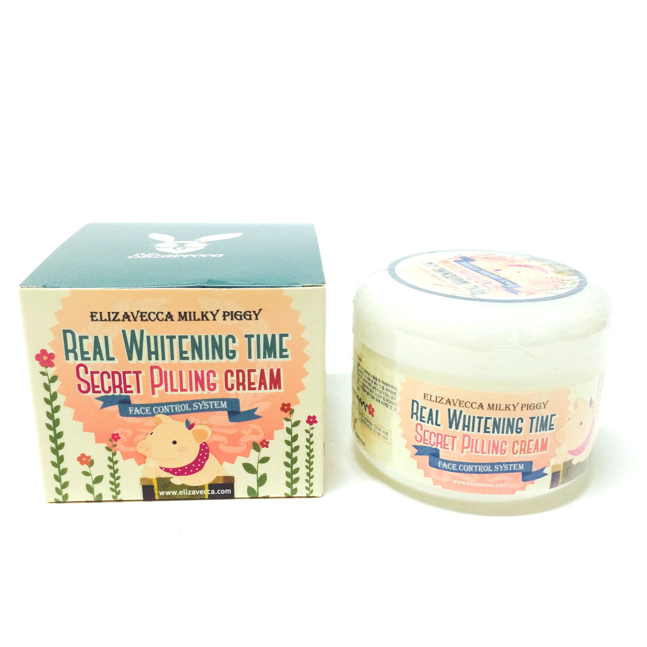 Elizavecca Крем для лица ЭФФЕКТ ПИЛИНГА осветляющий Real Whitening Time Secret Pilling Cream, 100 гр