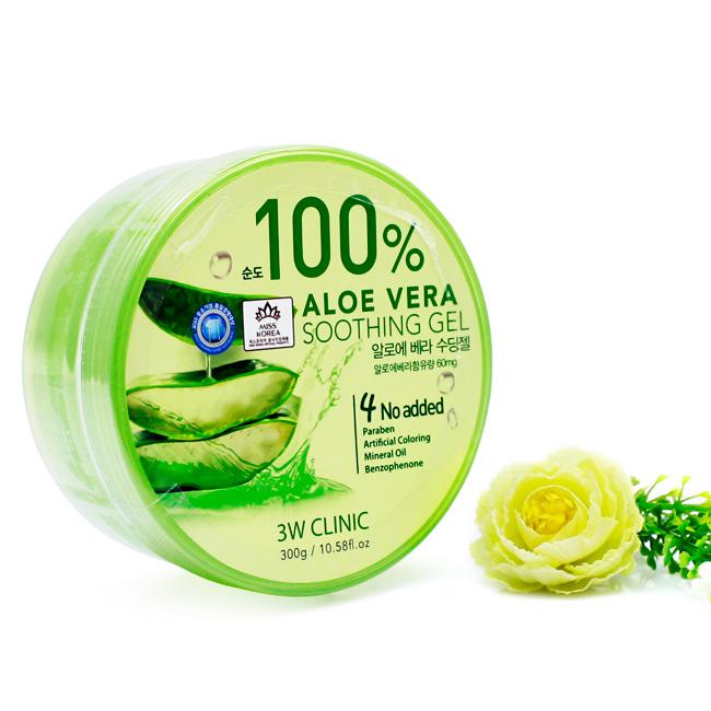 3W CLINIC Гель универсальный АЛОЭ Aloe Vera Soothing Gel 100%, 300 гр