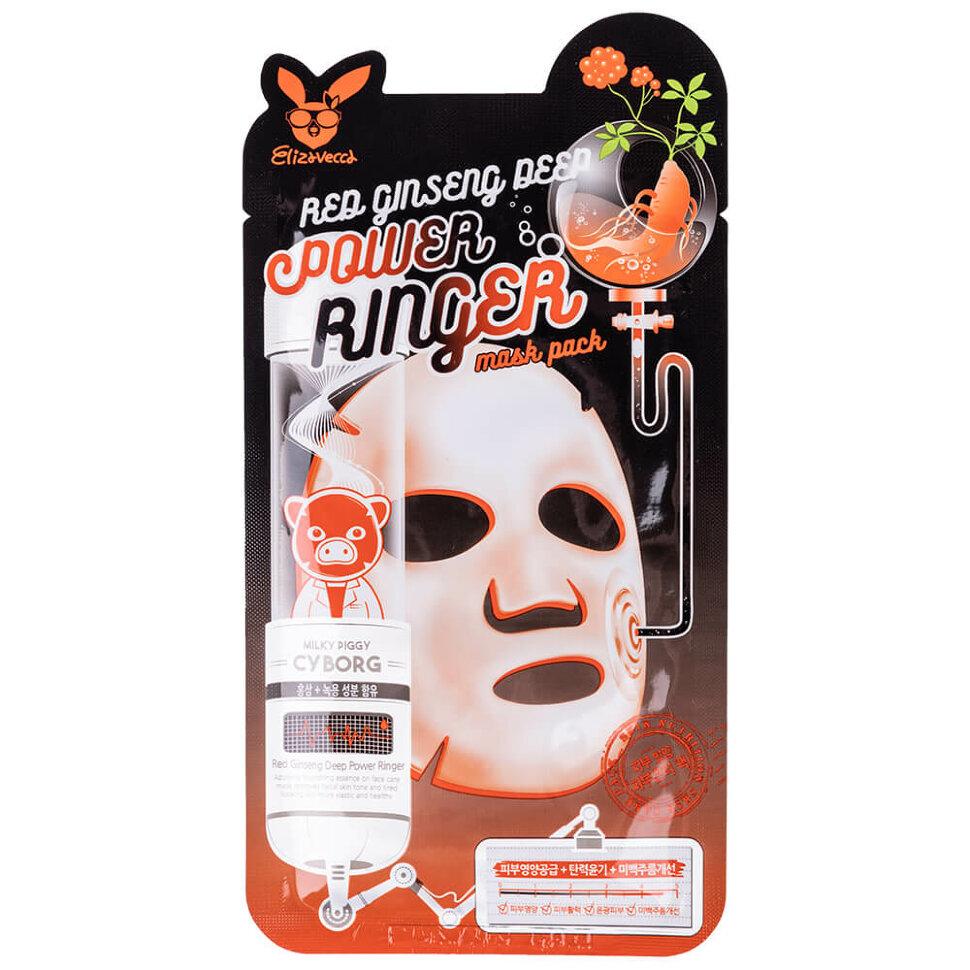 Регенерирующая маска с экстрактом красного женьшеня Red Ginseng Deep Power Ringer Mask