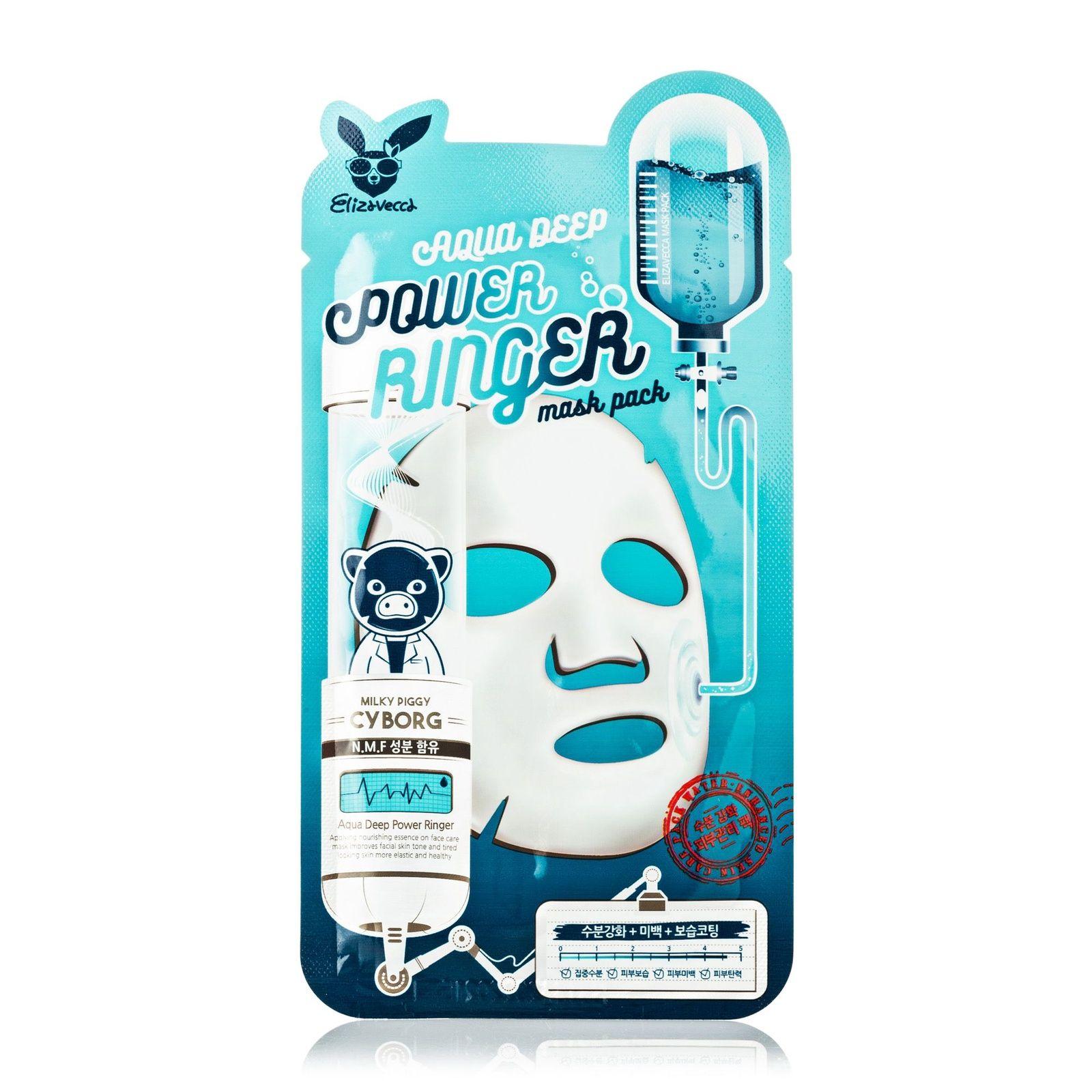 Тканевая маска для лица Увлажняющая Elizavecca AQUA DEEP POWER Ringer mask pack