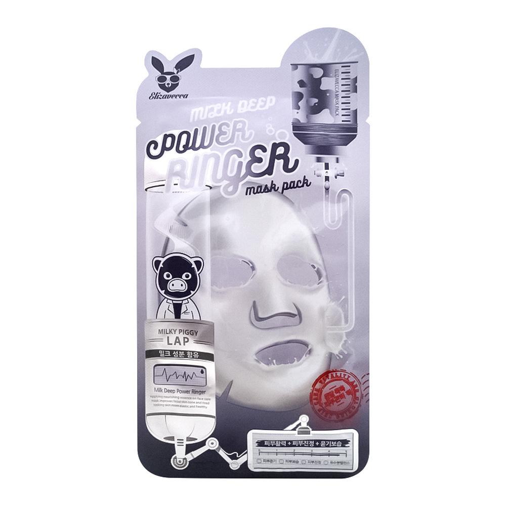 Маска молочно-цветочная для обновления клеток Elizavecca Milk Deep Power Ring Mask Pack