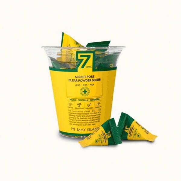 Скраб для глубокого очищения пор в индивидуальной упаковке May Island 7 Days Secret Pore Clear Powder Scrub