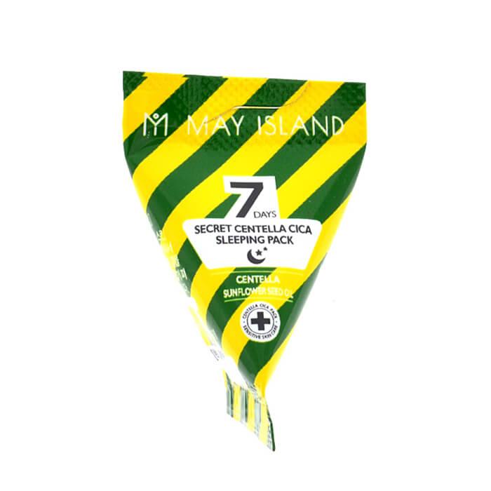 Ночная маска с центеллой и маслом подсолнуха в индивидуальных упаковках May Island 7 Days Secret Centella Cica Sleeping Pack