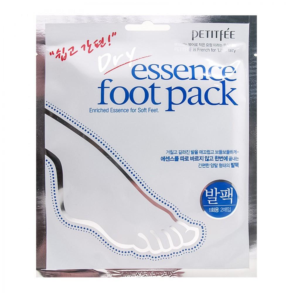 Смягчающая питательная маска для ног Petitfee Dry Essence Foot Pack