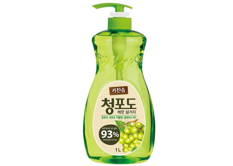 Корейское премиальное дезодорирующие средство для мытья посуды овощей и фруктов в холодной воде Зеленый виноград MUKUNGHWA