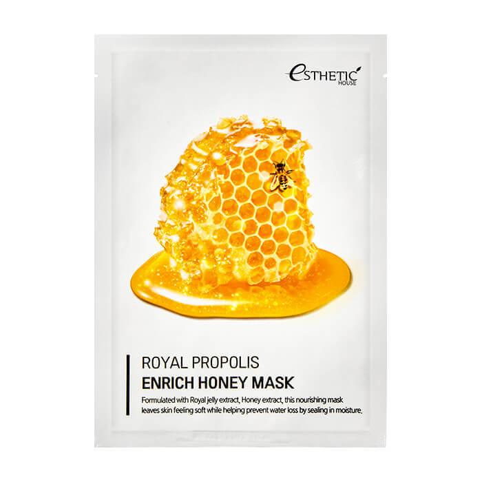 Питательная маска с маточным молочком, прополисом и медом ESTHETIC HOUSE Royal Propolis Enrich Honey Mask