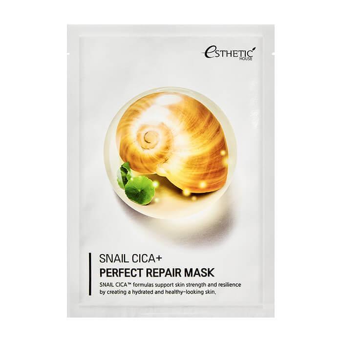 Регенерирующая тканевая маска с центеллой и муцином улитки Esthetic House Snail Cica+ Perfect Repair Mask