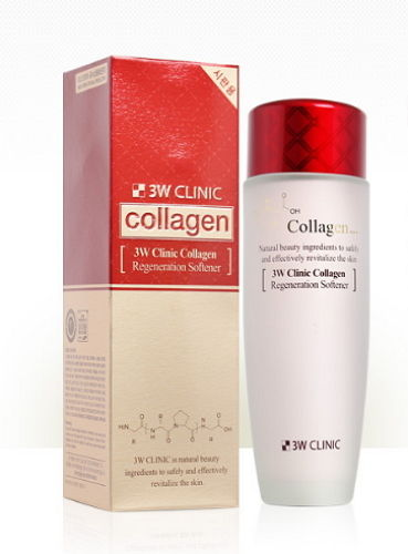 3W CLINIC ЛИФТИНГ Скин-тоник для лица с коллагеном регенерирующий Collagen Regeneration Softener, 150 мл