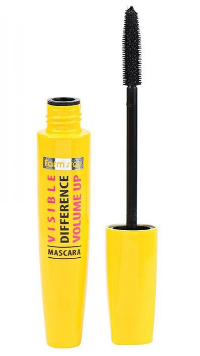 Тушь для объема ресниц с силиконовой кисточкой FarmStay Visible Difference Volume Up Mascara