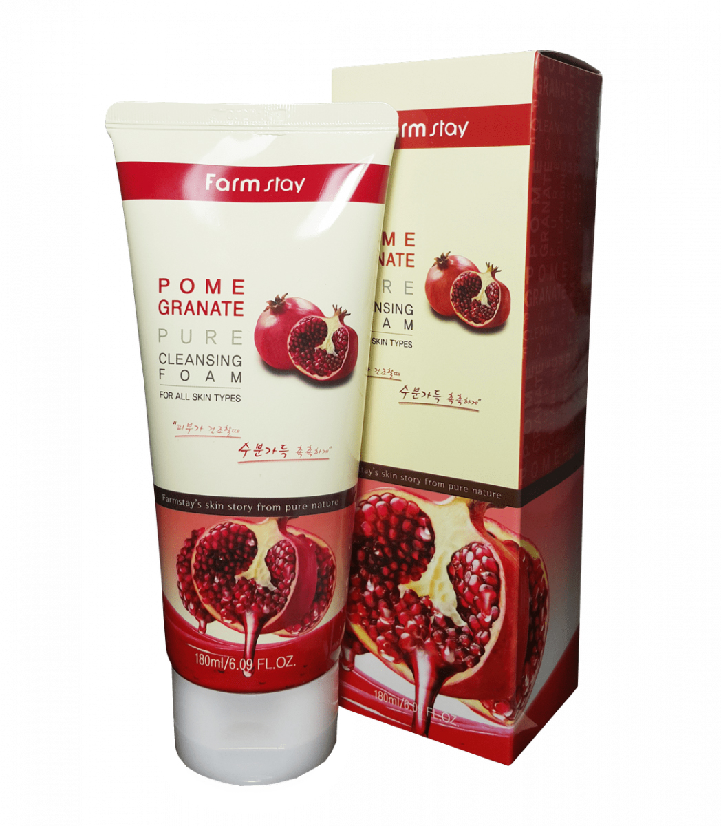 Пенка очищающая с экстрактом граната Pomeranate Pure Cleansing Foam FarmStay