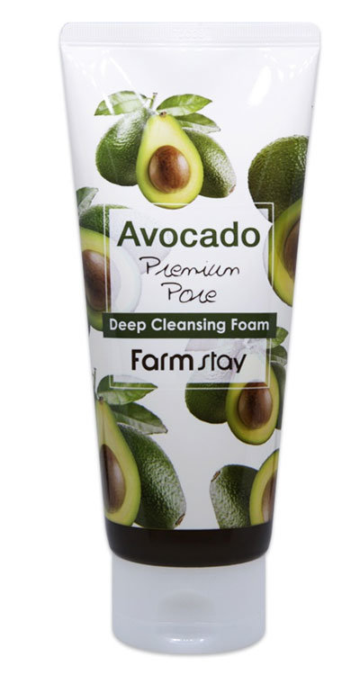 Очищающая пенка с экстрактом авокадо FarmStay Avocado Deep Cleansing Foam
