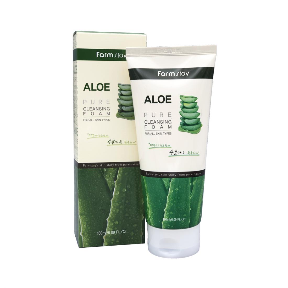 Пенка для умывания с экстрактом алоэ Aloe Pure Cleansing Foam