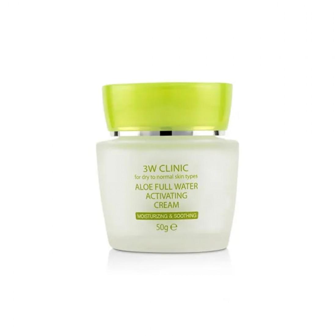 Увлажняющий крем для лица с экстрактом алоэ 3W Clinic Aloe Full Water Activating Cream