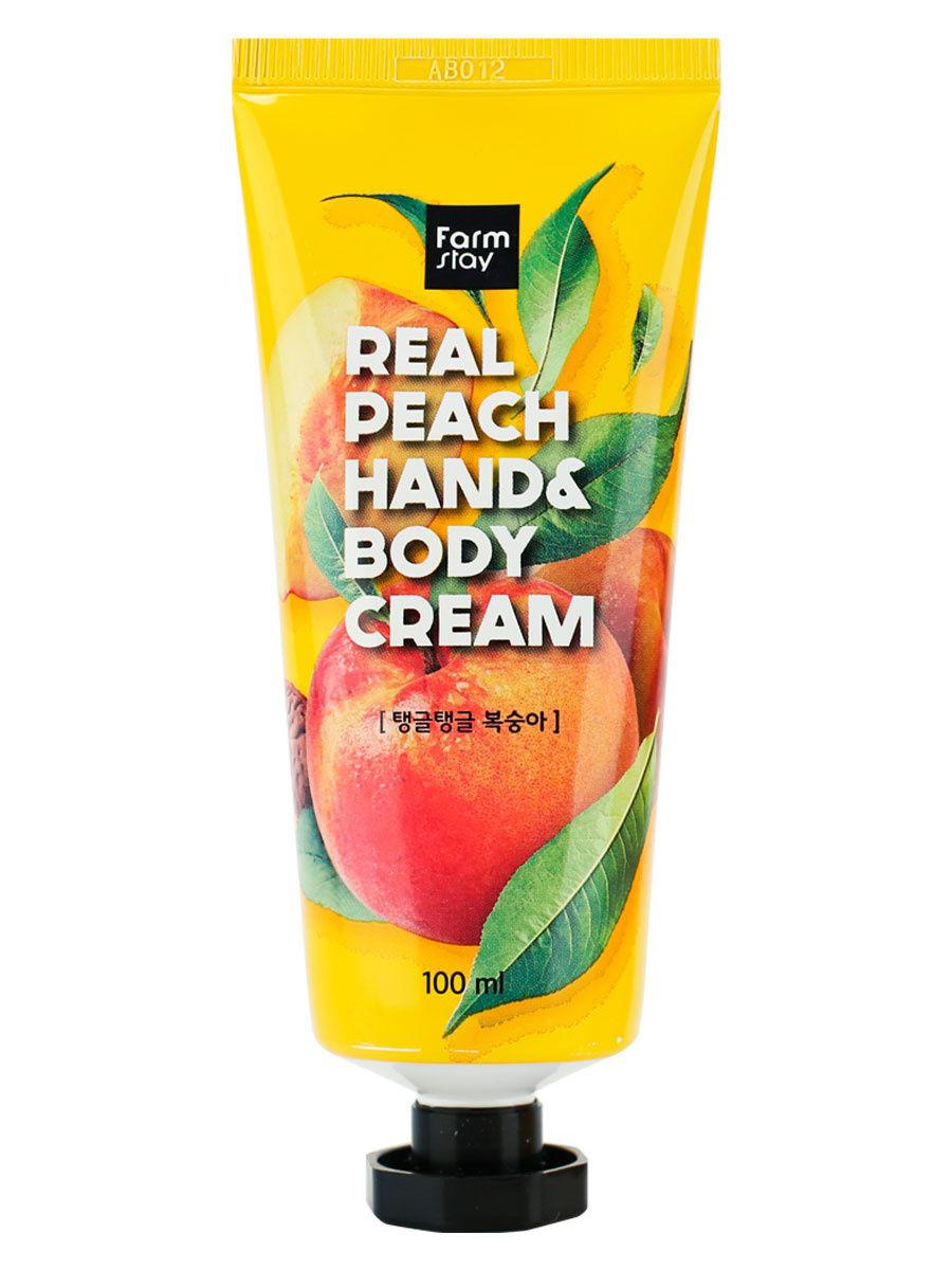 Крем для рук и тела с персиком FarmStay