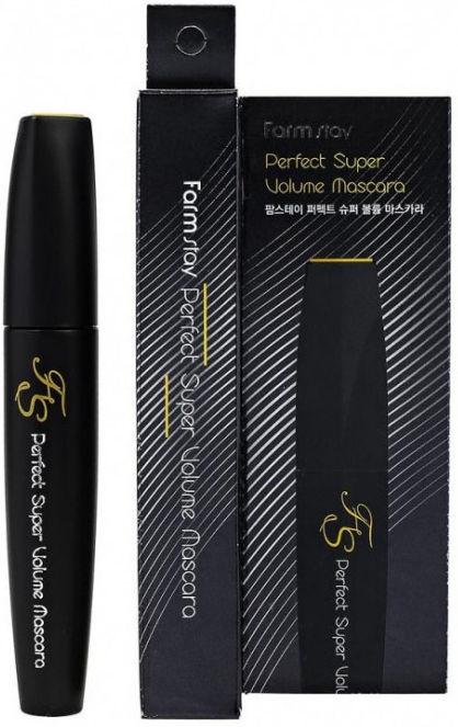 Тушь для суперобъема ресниц с силиконовой кисточкой FarmStay Perfect Super Volume Mascara