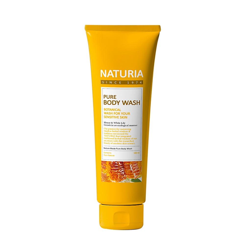 Питательный гель для душа с экстрактом меда и лилии Evas Naturia Pure Body Wash Honey & White Lily