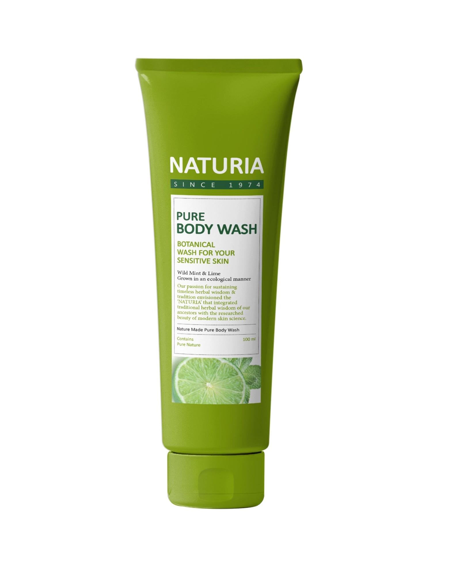 Гель для душа c экстрактом мяты и лайма Naturia Pure Body Wash Wild & Mint