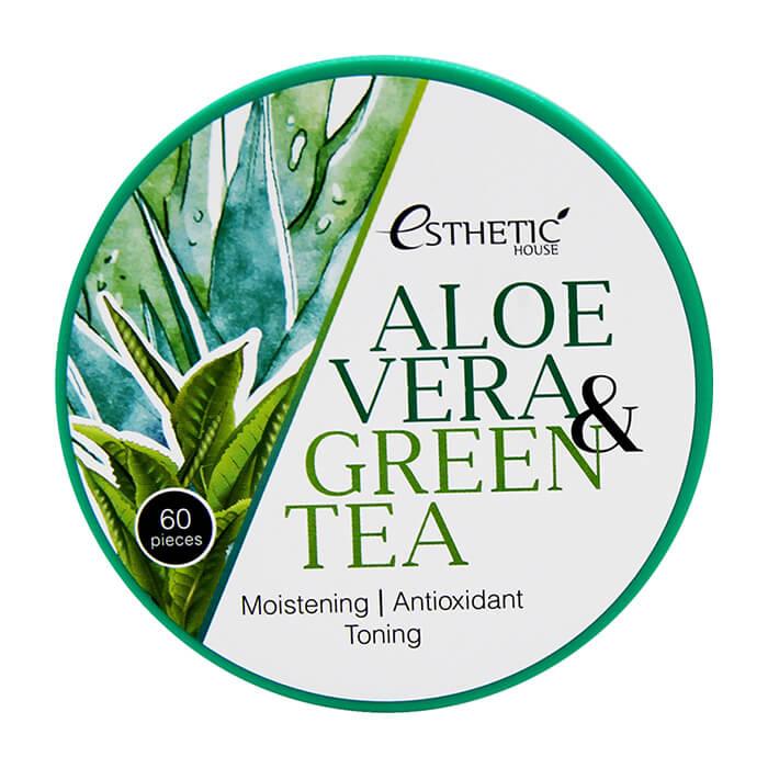 Увлажняющие гидрогелевые патчи Esthetic house Aloe Vera&Green Tea Hydrogel Eye Patch