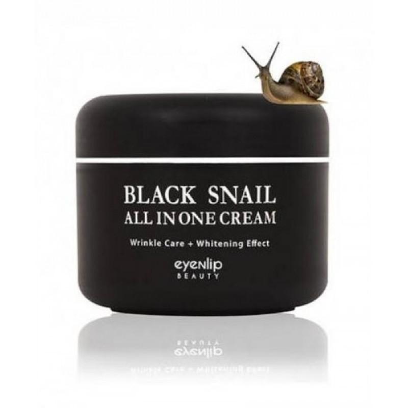 Многофункциональный крем с муцином черной улитки Eyenlip Black Snail All in One Cream 100 мл.