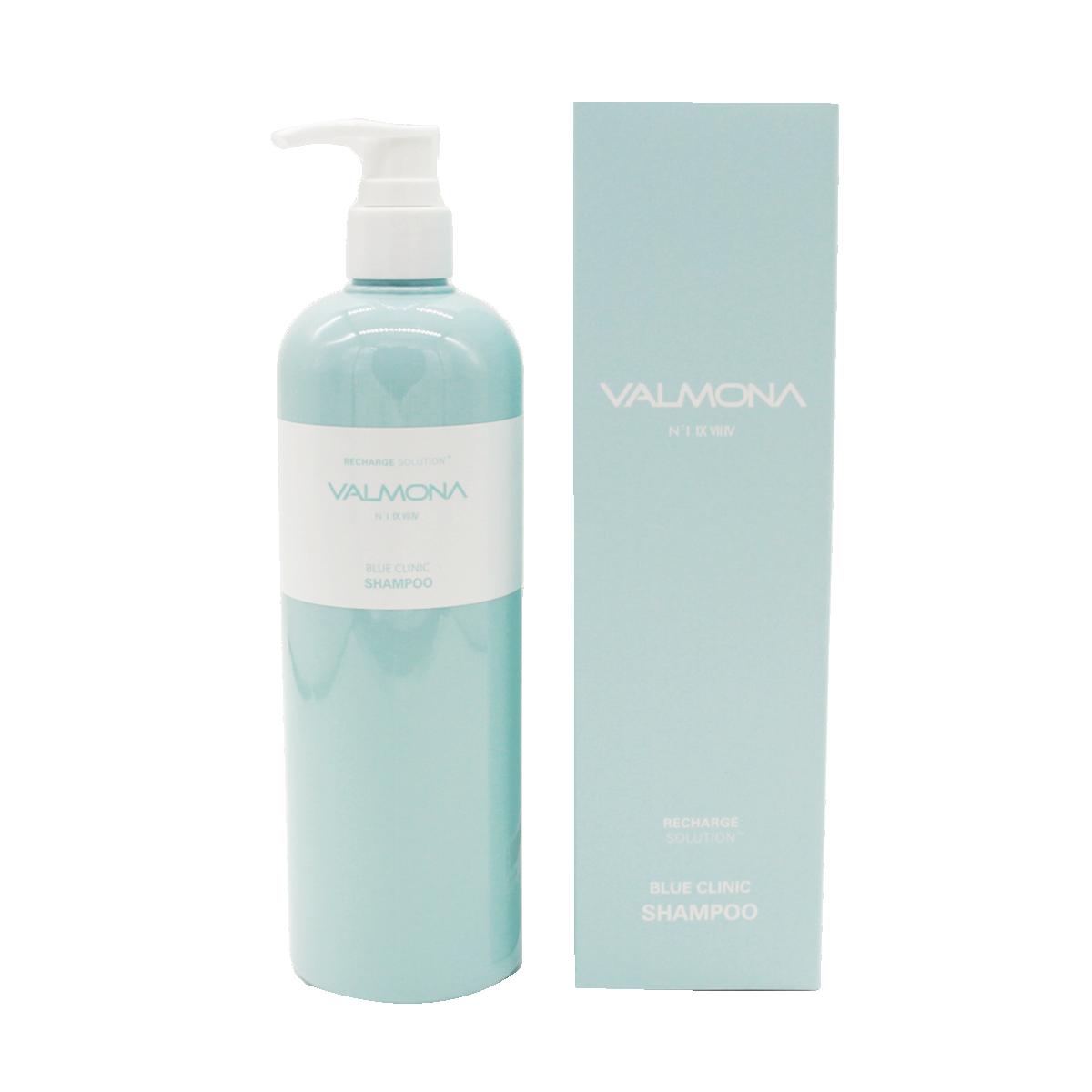 Шампунь для волос УВЛАЖНЕНИЕ Recharge Solution Blue Clinic Shampoo VALMONA, 480 мл