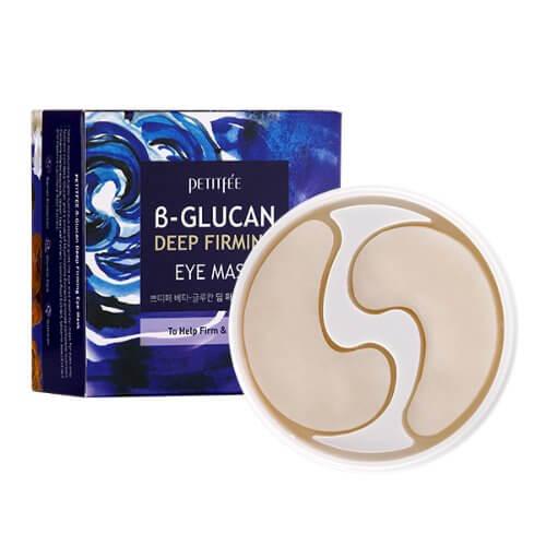 Укрепляющие тканевые патчи для глаз с бета-глюканом Petitfee B-Glucan Deep Firming Eye Mask