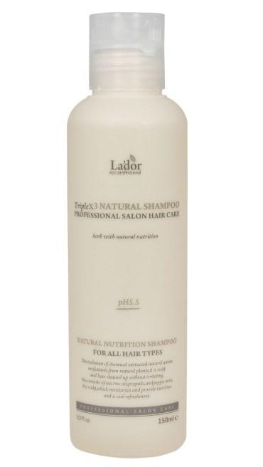 Профессиональный шампунь с протеинами шелка и кератином Triplex Natural Shampoo