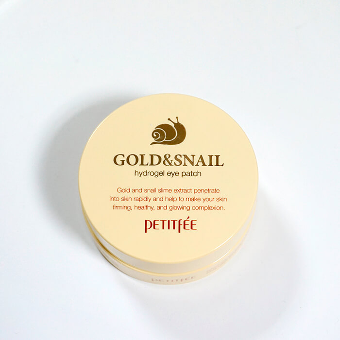 Гидрогелевые патчи для глаз Petitfee Hydro Gel Eye Patch Gold And Snail