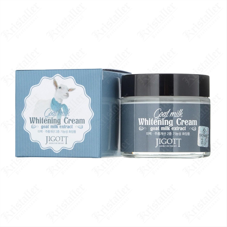 Крем для лица с экстрактом козьего молока Jigott Goat Milk Whitening Cream