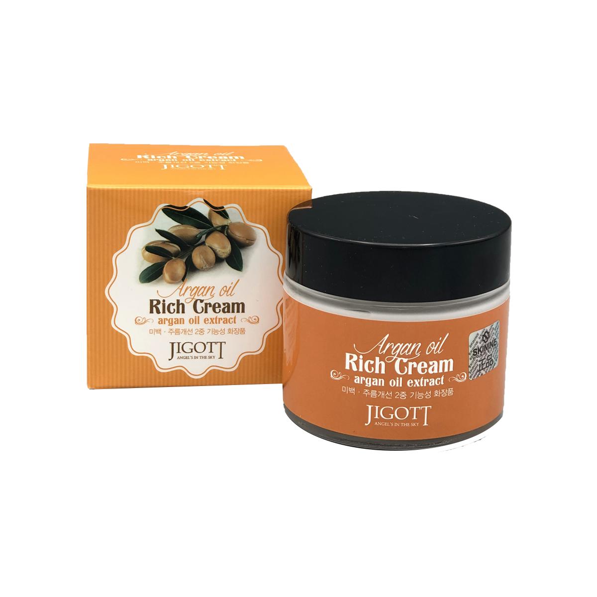 Насыщенный крем для лица с аргановым маслом Jigott Argan Oil Reach Cream