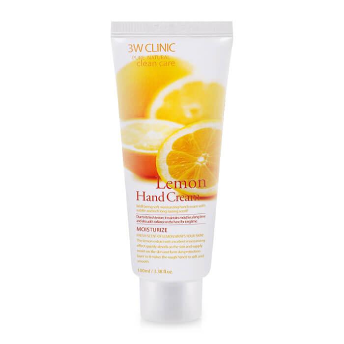 3W CLINIC Крем для рук увлажняющий с экстрактом ЛИМОНА Lemon Hand Cream, 100 мл