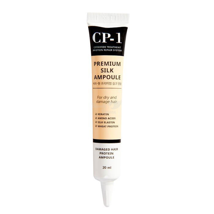 ESTHETIC HOUSE Несмываемая сыворотка для волос с протеинами шелка CP-1 Premium Silk Ampoule, 20 мл
