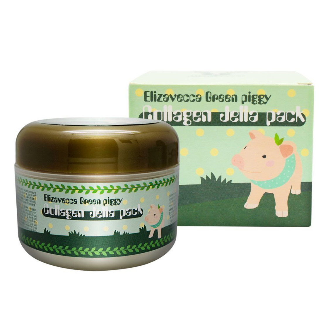 Elizavecca Маска для лица желейная с коллагеном ЛИФТИНГ Green Piggy Collagen Jella Pack, 100 мл