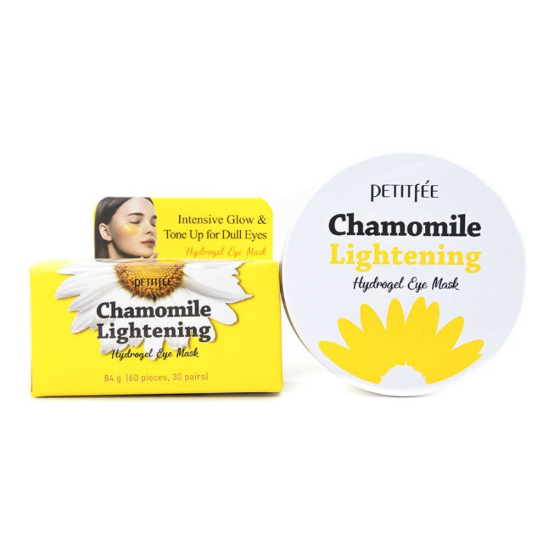 [PETITFEE] Набор патчей д/век гидрогел. РОМАШКА  Chamomile Lightening Hydrogel Eye Mask, 60 шт