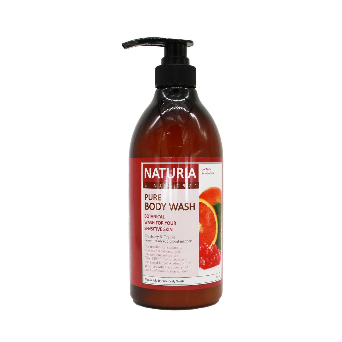 Гель для душа клюква и апельсин Evas Naturia Pure Body Wash Cranberry&Orange