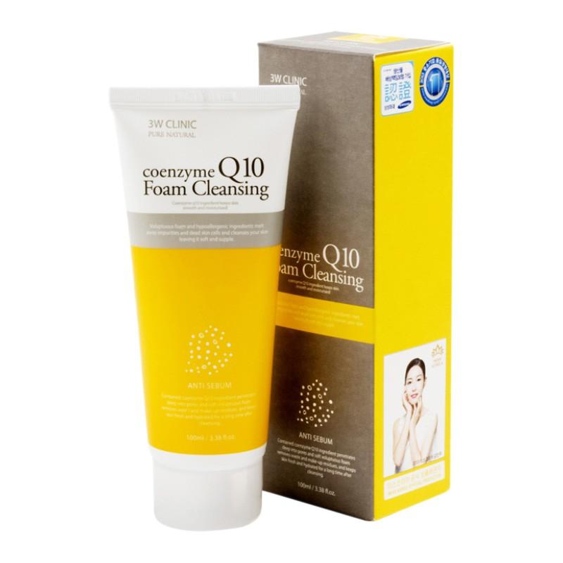 3W CLINIC Пенка для умывания КОЭНЗИМ Q10 Coenzyme Q10 Foam Cleansing, 100 мл